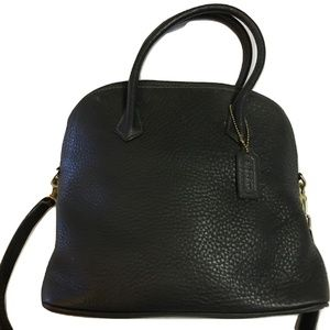 COACH SONOMA Vintage Black Leather Dome Satchel